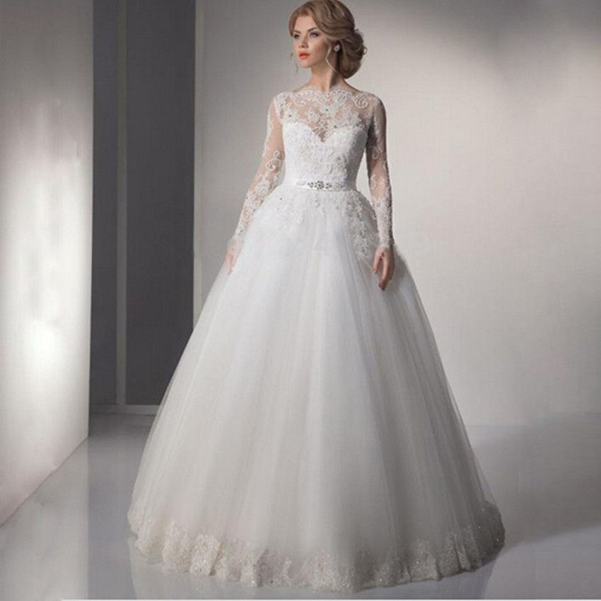 Modest-Laced Wedding Dress