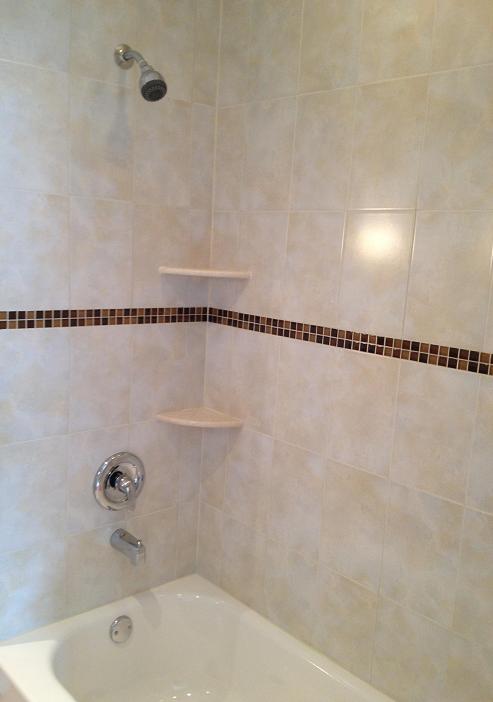 ceramic shower wall tile installation