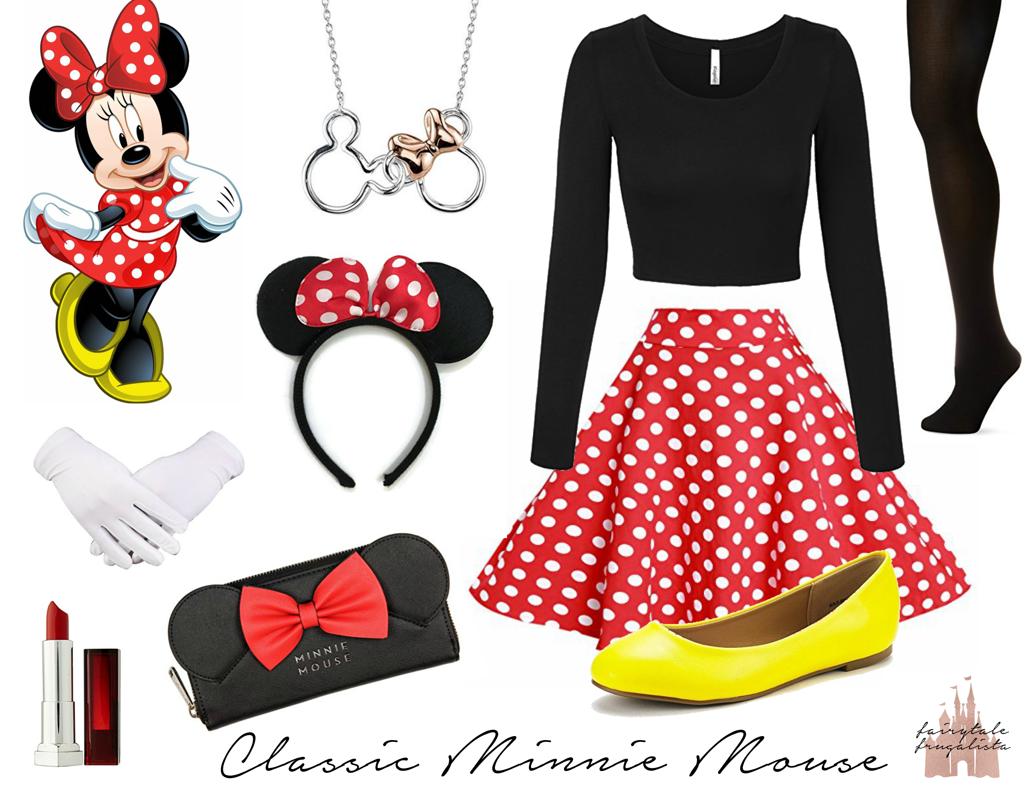 9a051f53f6 Disneybounding: Classic Minnie Mouse in 2019   Disney Fashion ღ ...