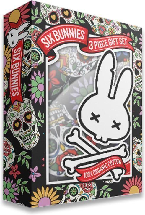 Six Bunnies Sugar Skulls Pyjama Set Baby Toddler Sleepwear Rockabilly Punk Cool