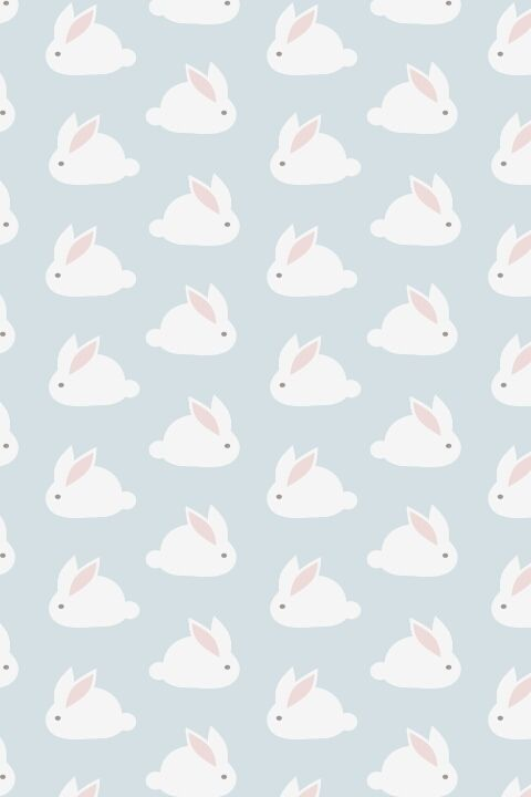 So Cute Via Tumblr Pattern Wallpaper Rabbit
