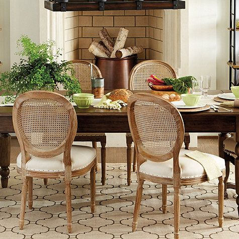 Louis Cane Back Dining Chair Set Of 2