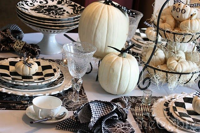 Stonegable-the most amazing tablescapes Fall  Halloween - classy halloween decor