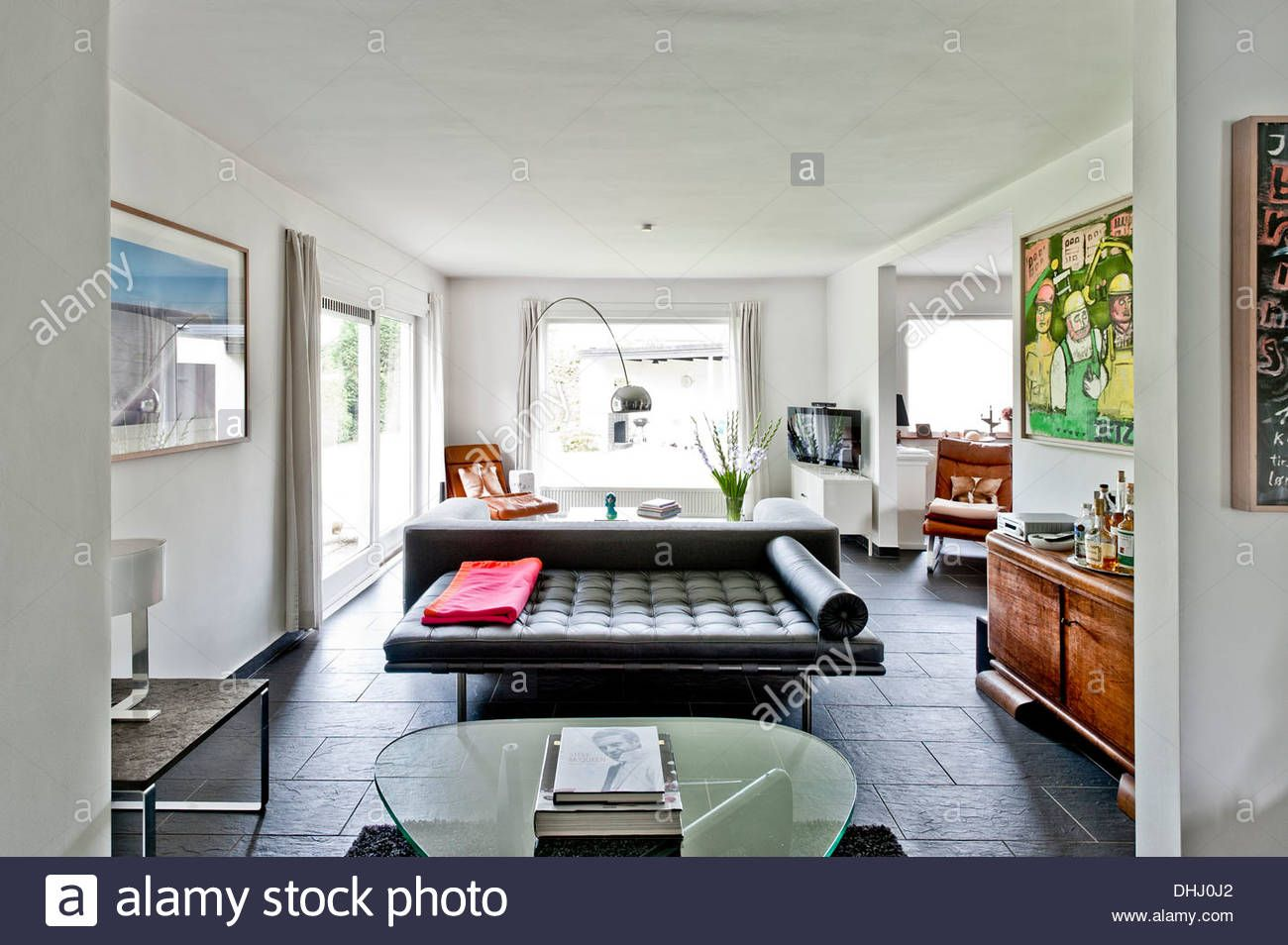 Great Stock Photo   Living Room, Bauhaus Residential House, Hamburg, Germany
