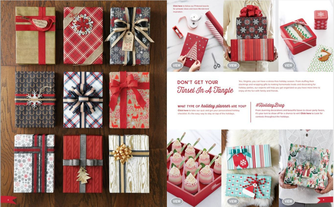 Holiday Gift wrapping ideas  http://www.containerstore.com/
