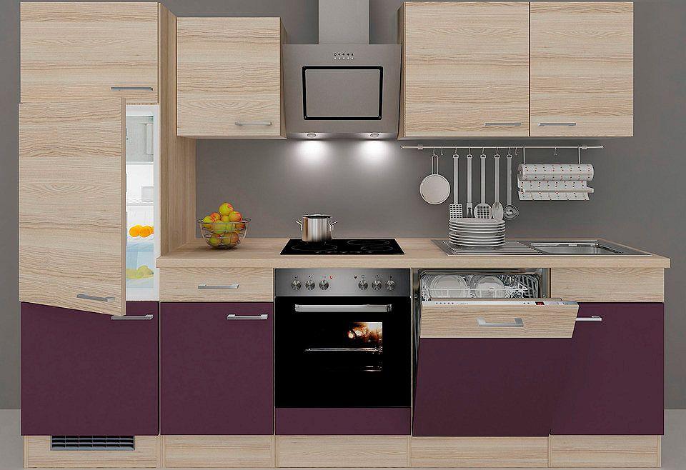 Küchenzeile mit E-Geräten »Portland«, Breite 280 cm, Set 4 Jetzt - küchenblock ohne e geräte