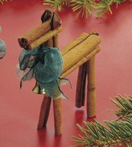 Cinnamon Stick Reindeer Craft Christmas Crafts Ornament Crafts