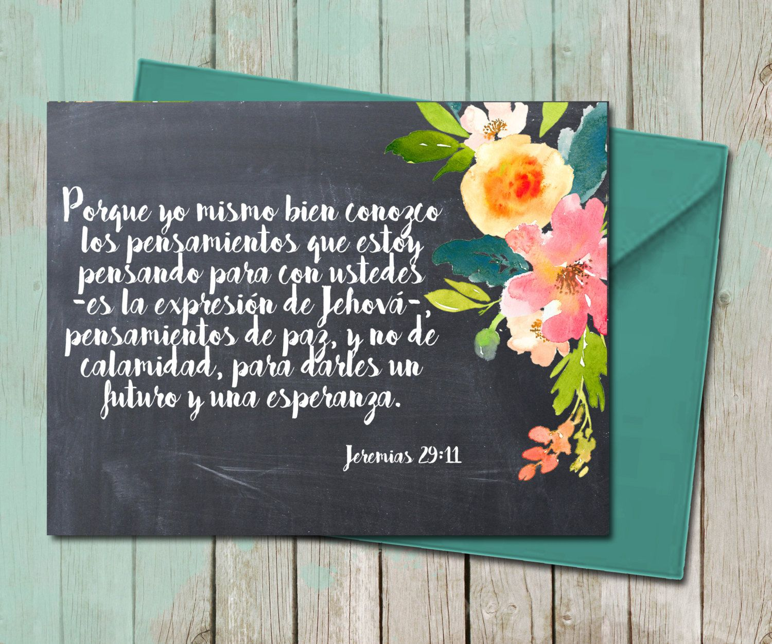 Floral encouragement greeting card spanish thoughts of peace bible floral encouragement greeting card spanish thoughts of peace bible verse scripture hand lettering calligraphy art kristyandbryce Image collections