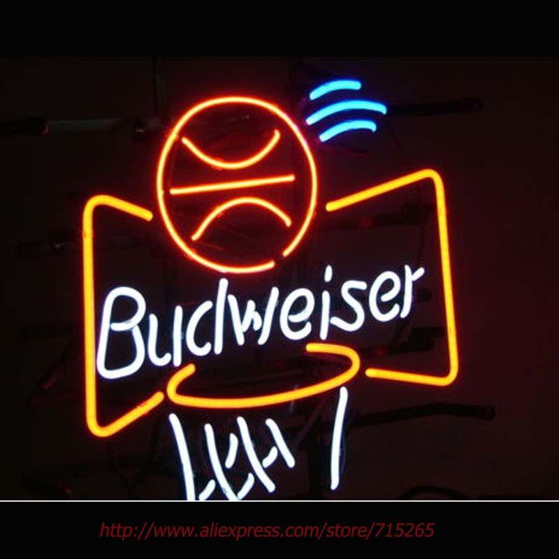 BUDWEISER BASKETBALL Neon Sign Neon Bulbs Real Glass Tube