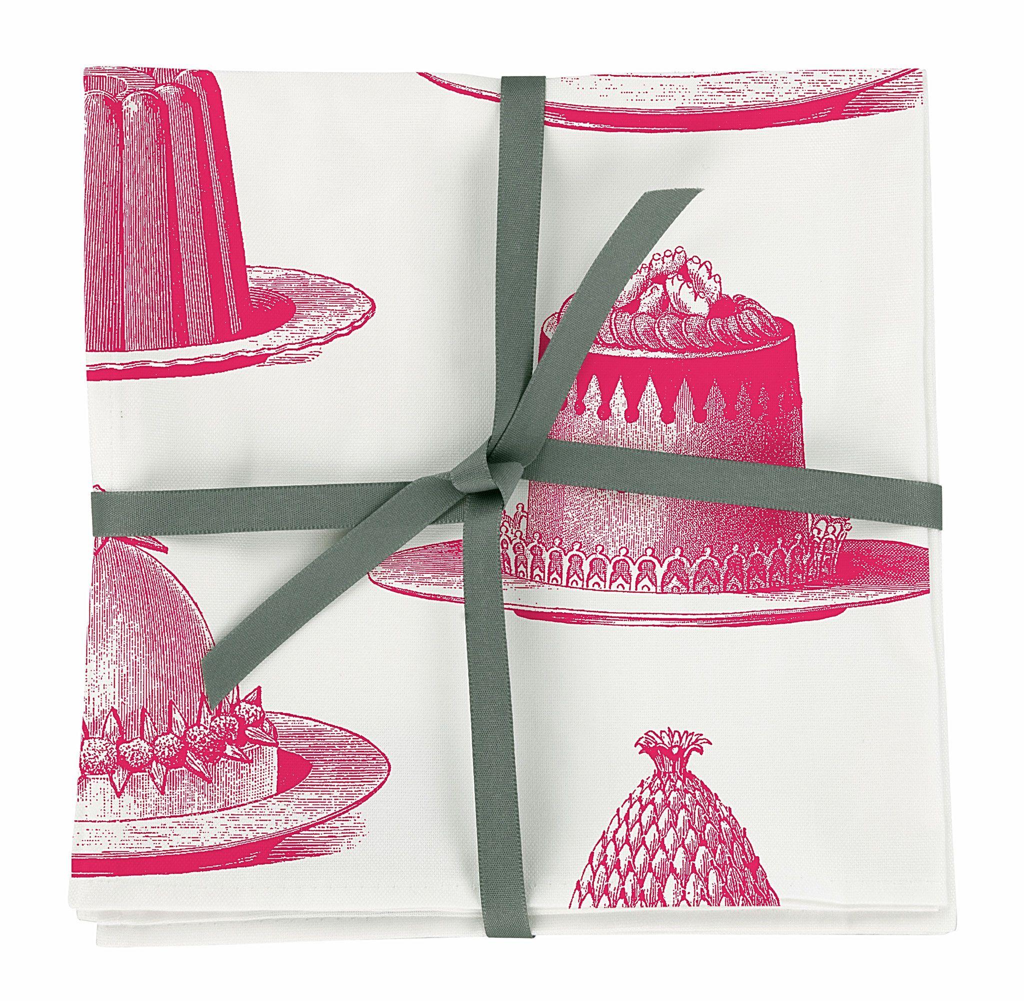 Genial Pinke Küche Dekoration Von Ausgefallen Bedruckte Baumwoll Servietten Sets Mit Pinken