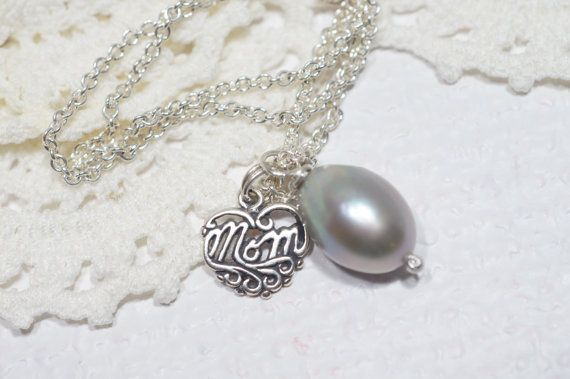 Mother Gift Personalized Heart Baroque Pearl by Trendydeals, $28.00