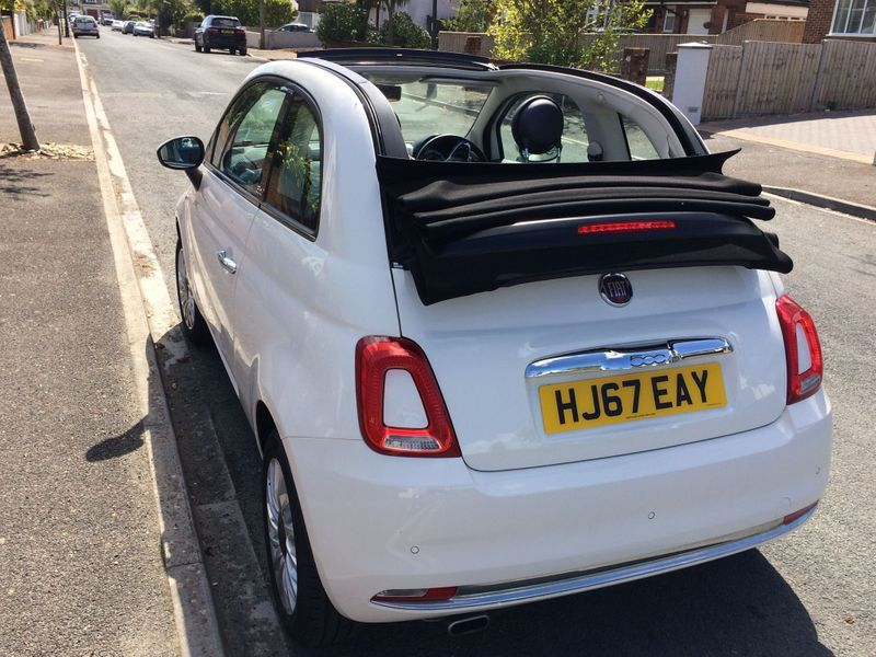 2017 White FIAT 500C 1.2 Lounge (s/s) 2dr for sale for £