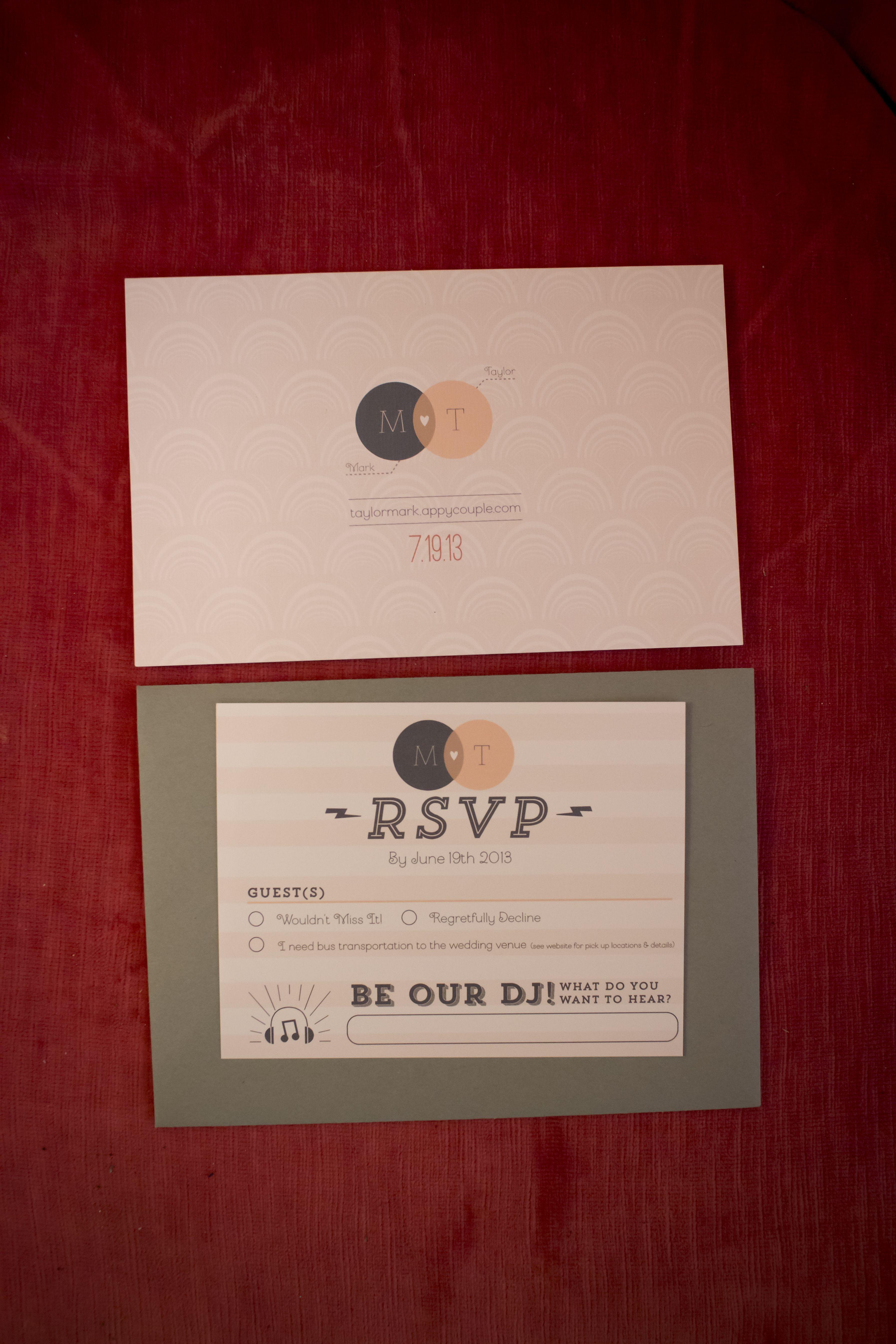 Custom design wedding invitations (front) Designed by Alex Terry ...
