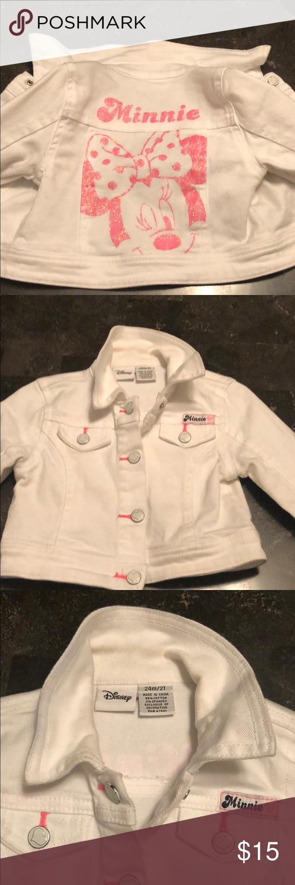 Toddler Minnie Mouse Jean Jacket Jean Jacket Jackets Disney Jacket [ 1740 x 580 Pixel ]