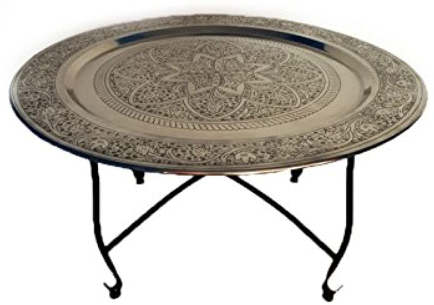 Marokkanischer Tisch Wohnzimmertisch Aus Metall Sule O 80cm Rund