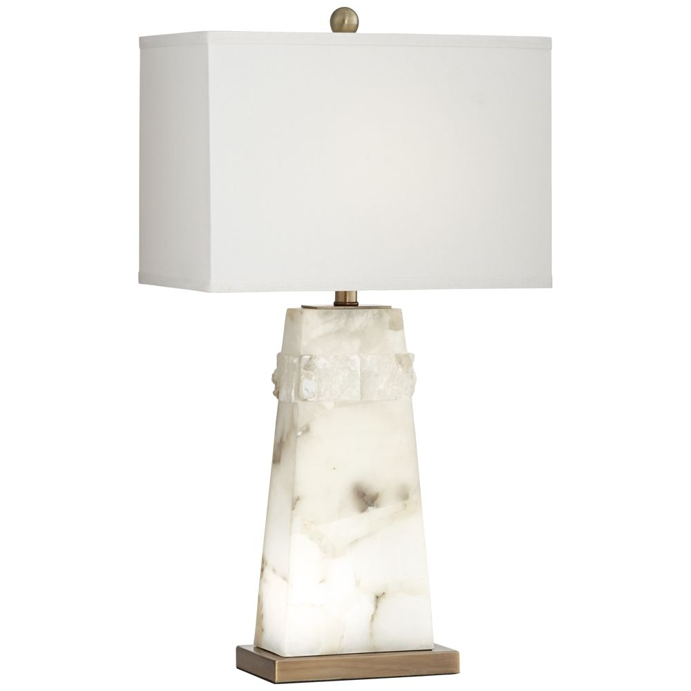 Astonishing Beaumont White Alabaster Table Lamp With Night Light Style Download Free Architecture Designs Pushbritishbridgeorg