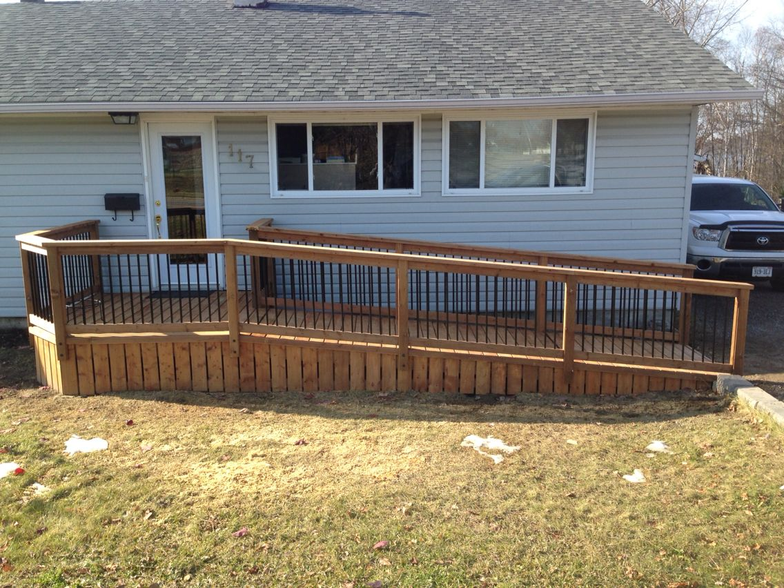 Nice Looking Deck With Wheel Chair Ramp