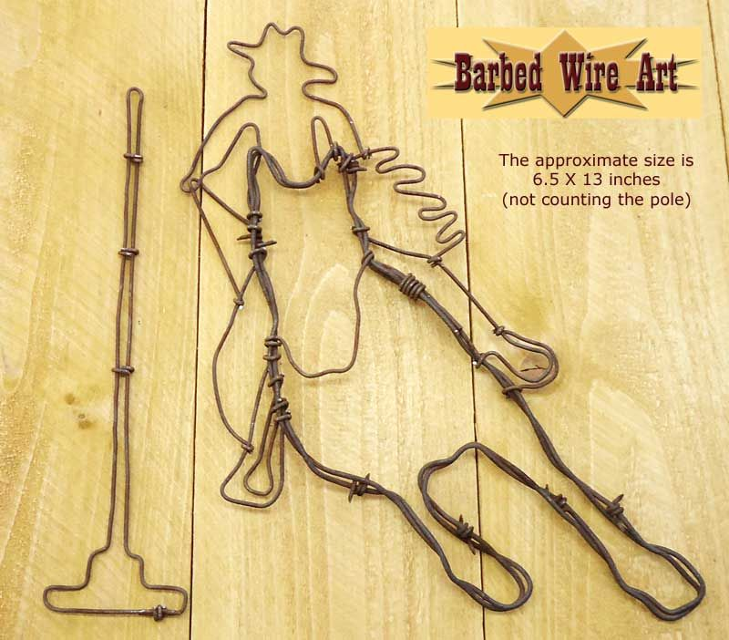 Pole Bender ~ Country Folk Art | Barbed Wire Art - Sculptures ...