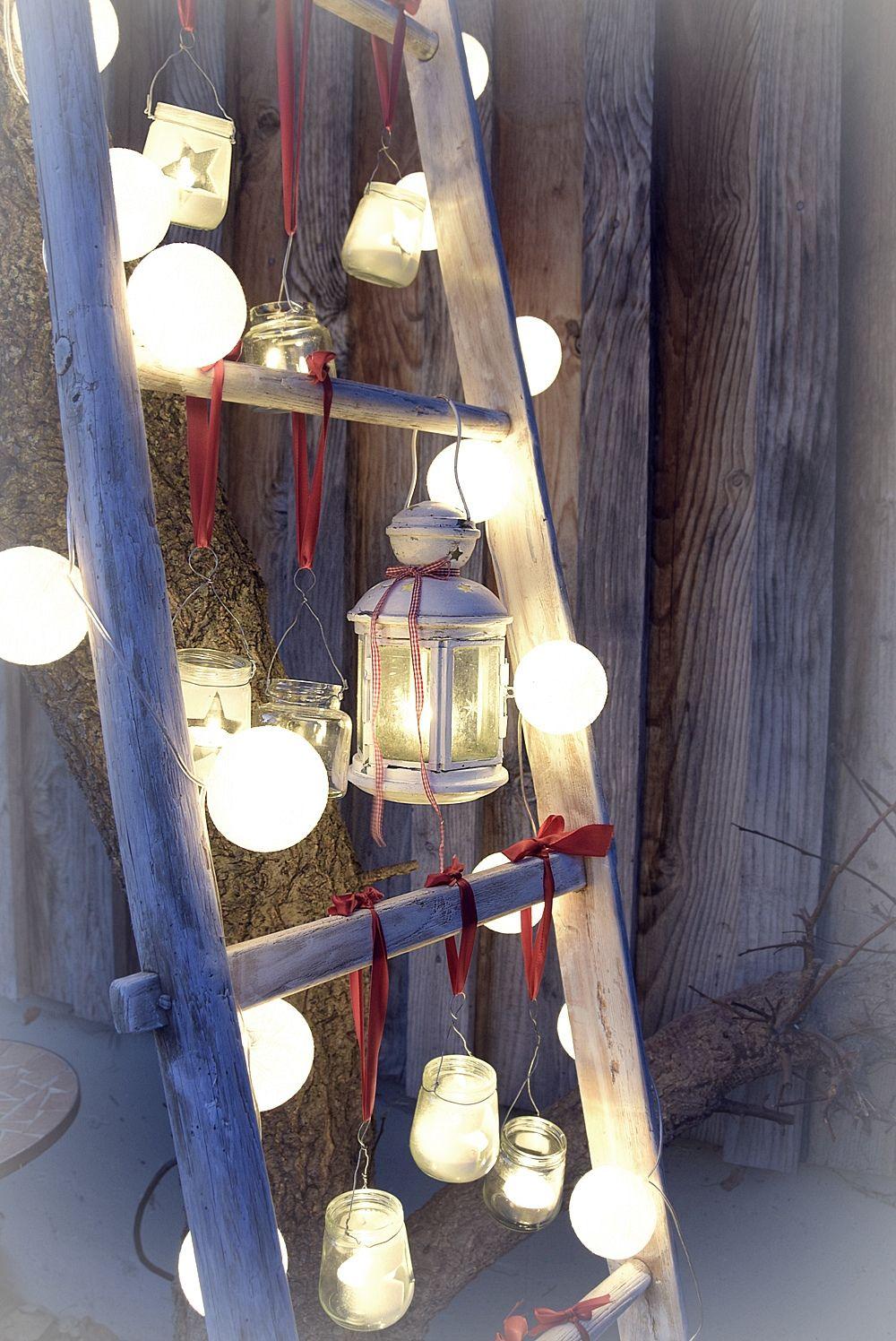 lichter leiter depot weihnachten deko drau en. Black Bedroom Furniture Sets. Home Design Ideas
