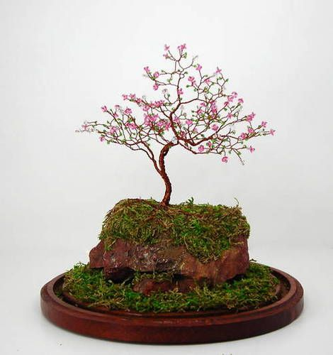 The Cherry Blossom Gem Tree That Inspired Me To Make My Own Trees Not As Beautiful As This One Cherry Blossom Tree Miniature Trees Wire Trees