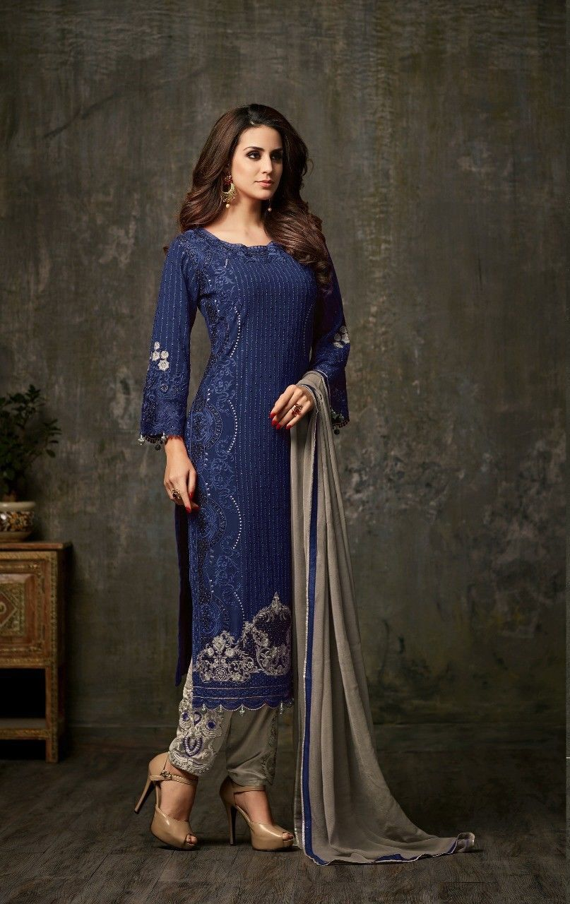 Indian pakistani heavy georgette with embroidery traditional wedding