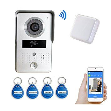 Wireless Outdoor Bell and 4 PCS ID Keyfobs Wifi Visual Two
