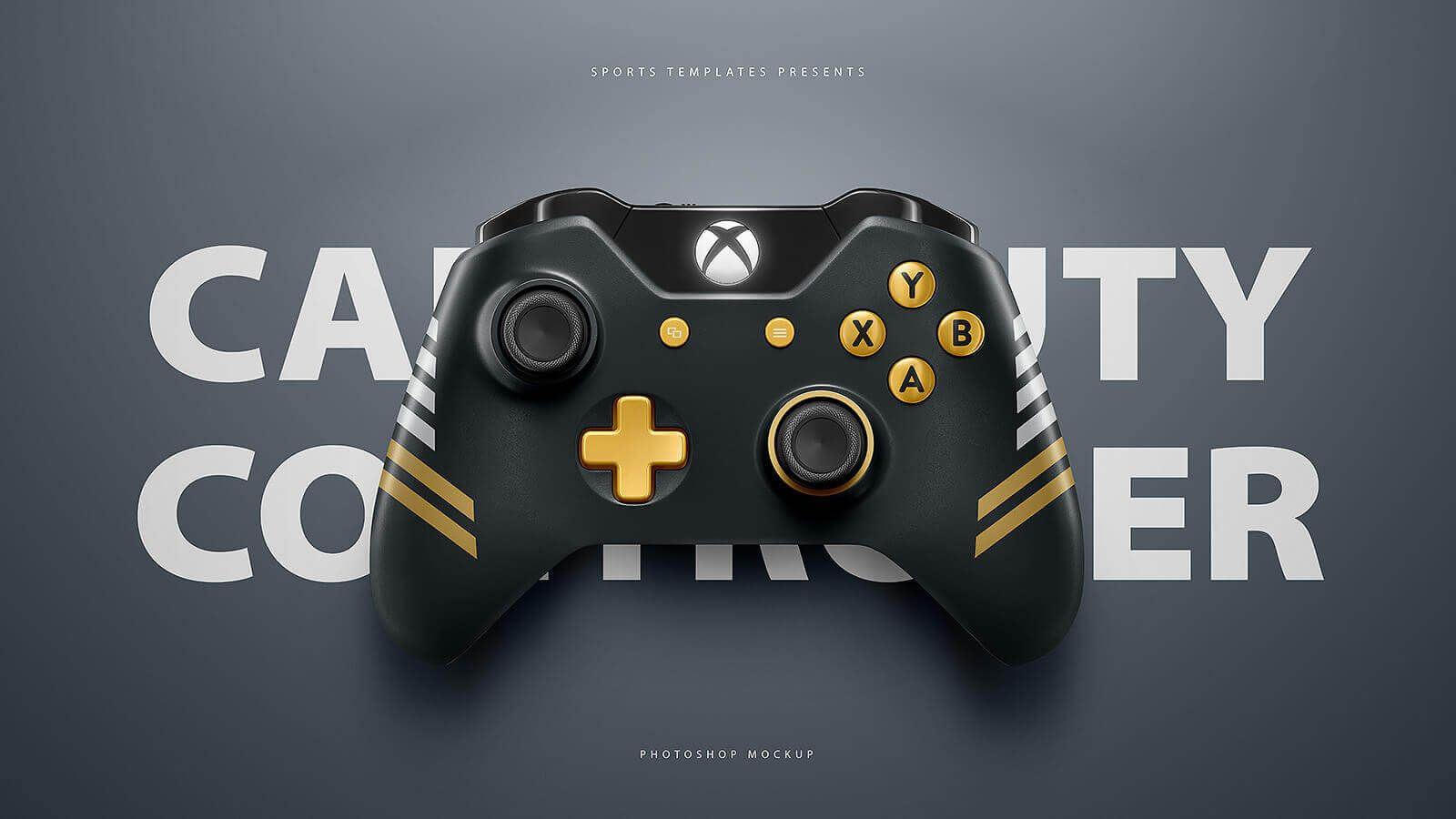 Esports ps4 xbox controllers mockup templates sports