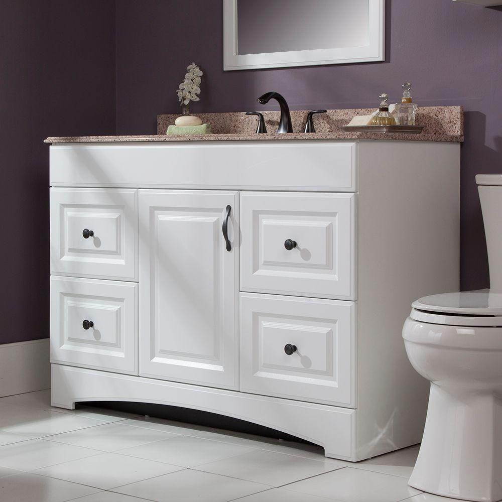 Glacier Bay Regency 48 in. W Bath Vanity Cabinet Only in White ...