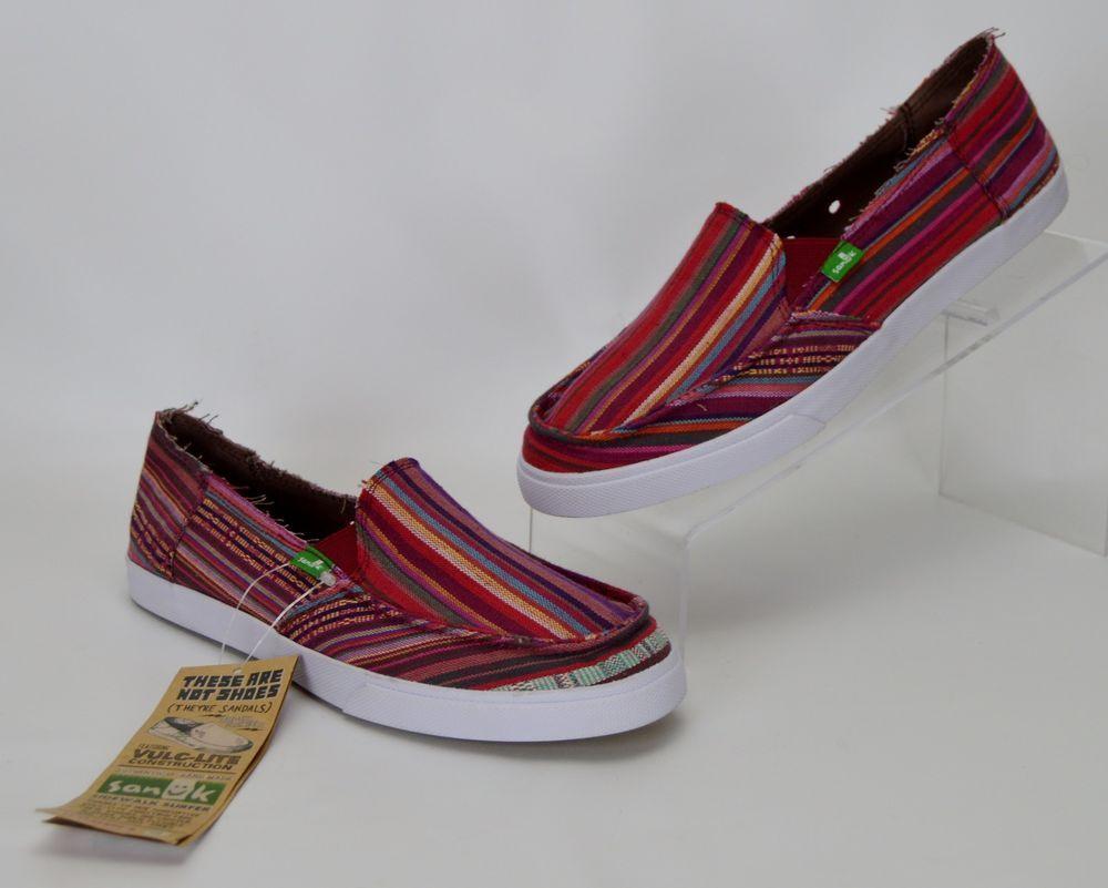 Sanuk Women's 8 M Multi-Color Standard Poncho Sidewalk Surfer Slip On Shoes  #Sanuk #LoafersMoccasins #Casual