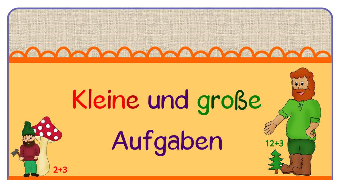 Kartei - Kleine und große Aufgaben.pdf | Mathe Klasse 1 in 2018 ...