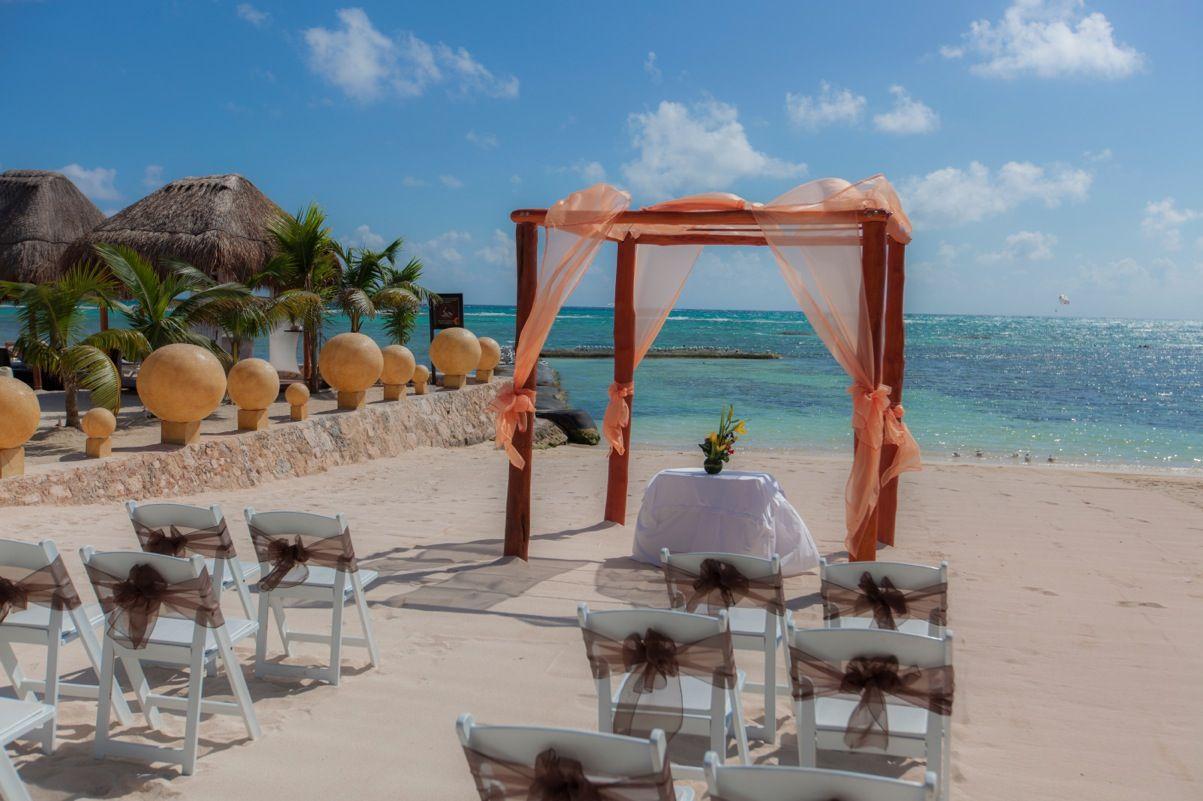 El Dorado Seaside Suites. Wedding Gazebo on the beach. Riviera Maya ...