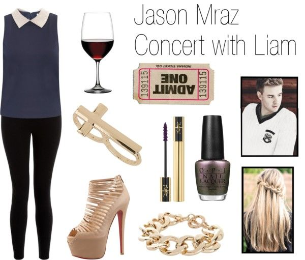 """Jason Mraz Concert with Liam"" by onedirectionperfectdates ❤ liked on Polyvore"