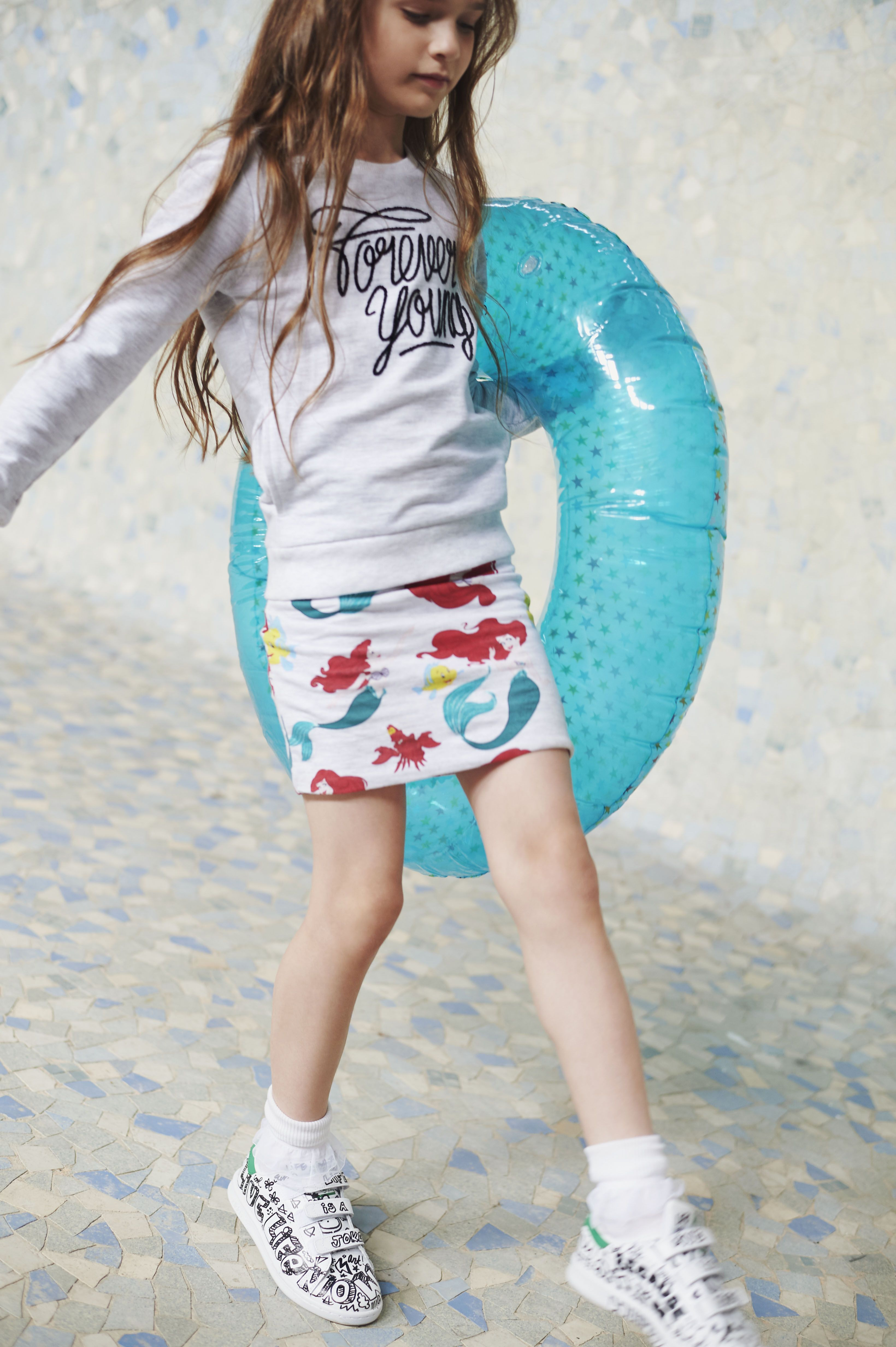 Sea creature skirt from Little Eleven Paris for summer kidswear