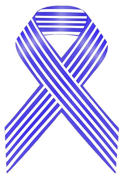 Blue and White Stripe Awareness Ribbon Here are some causes