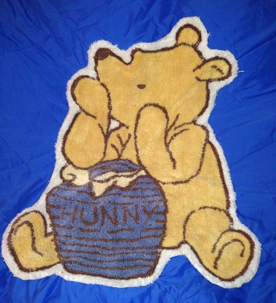 Rare Vintage Clic Winnie The Pooh Nursery Rug 28 X 25 In Baby Décor Mats Rugs Ebay