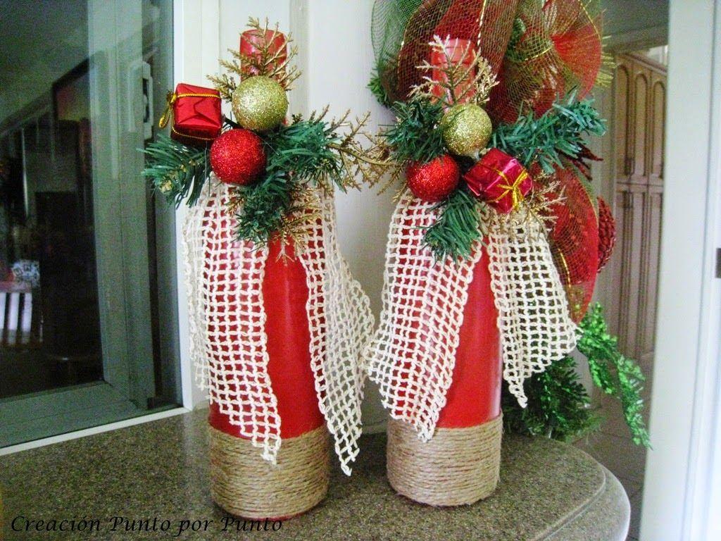 Creaci n punto por punto navidad navidad navidad for Botellas de vidrio decoradas para navidad