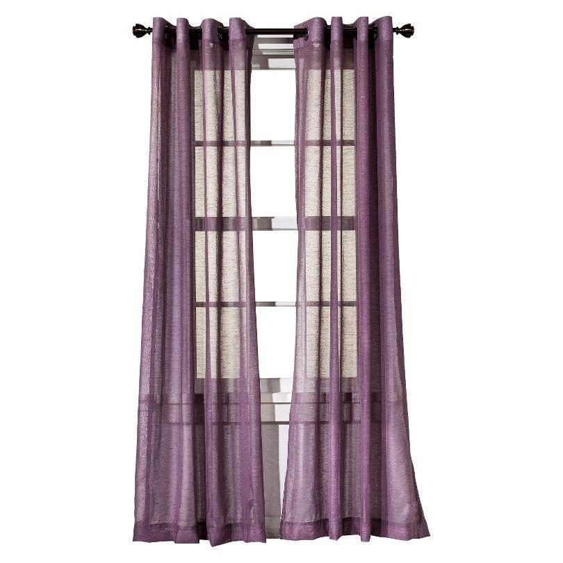 Threshold Linen Grommet Window Sheer Window Sheers Purple