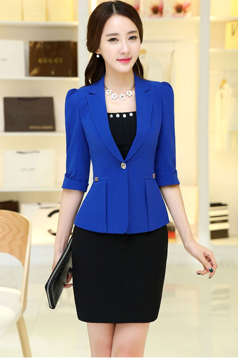 Blazer Short On At Reasonable Prices 2017 Women S Office Work Jacket Spring Autumn Half Sleeve Solid Color Ruffled Blazers Feminino Fashion Slim