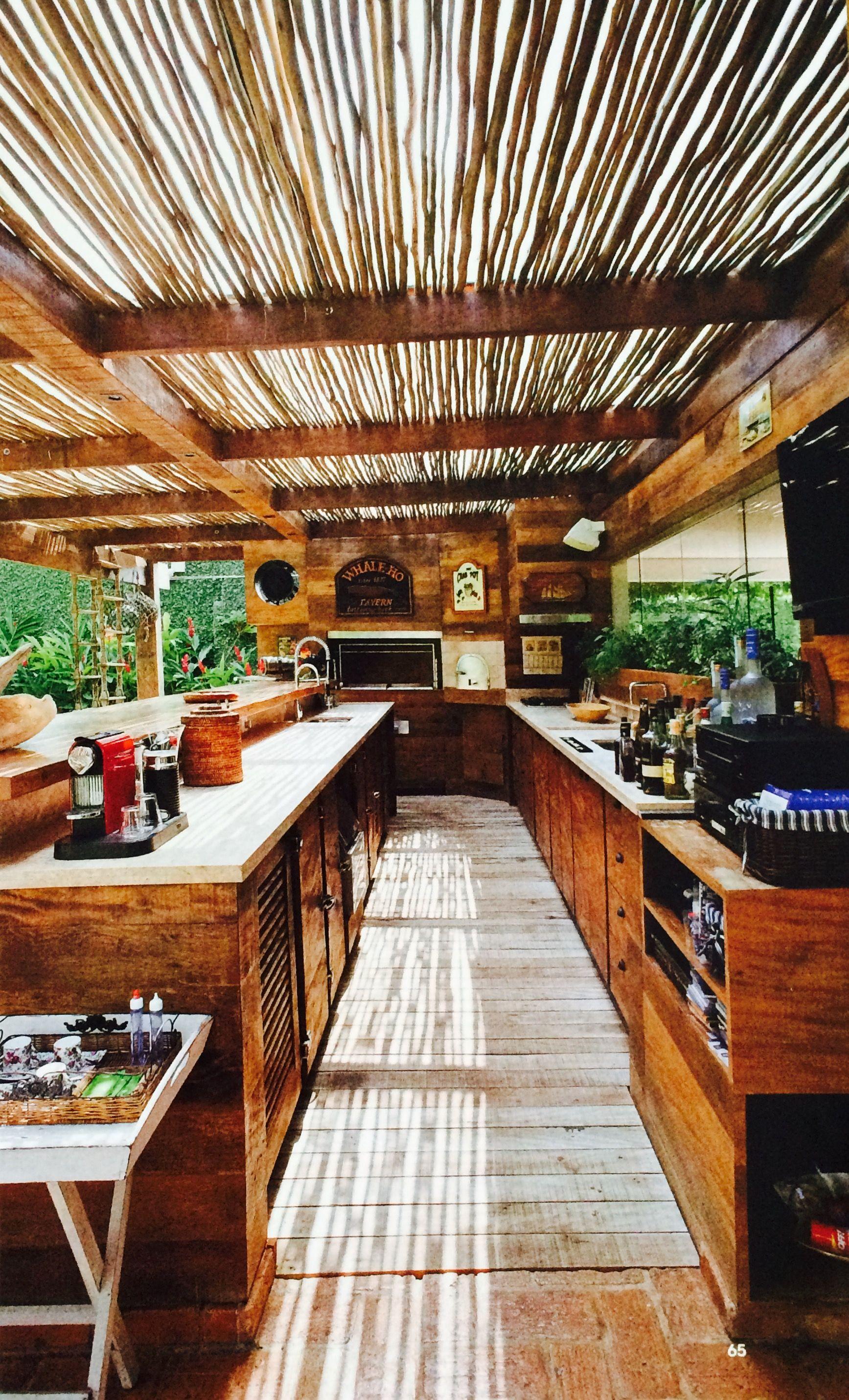 Cozinha R Stica Para Rea Gourmet Arquitetura E Decora O Pinterest