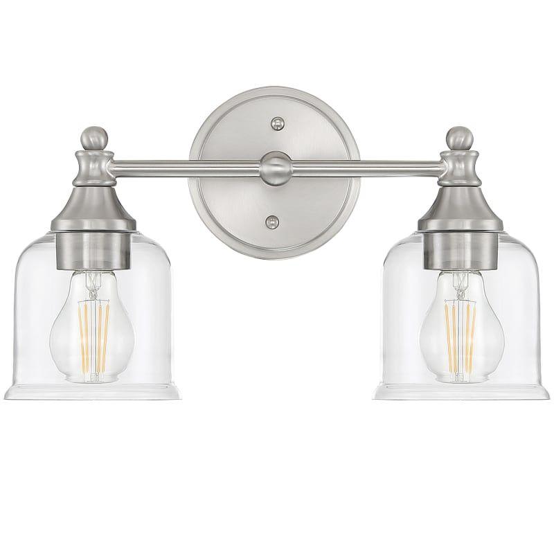 Miseno Ml5735vl 2 Light 15 Wide Bathroom Vanity Light Brushed Nickel Indoor Lighting Bathroom Fixtures Vanity Light In 2020 Bathroom Vanity Lighting Vanity Lighting Bathroom Fixtures