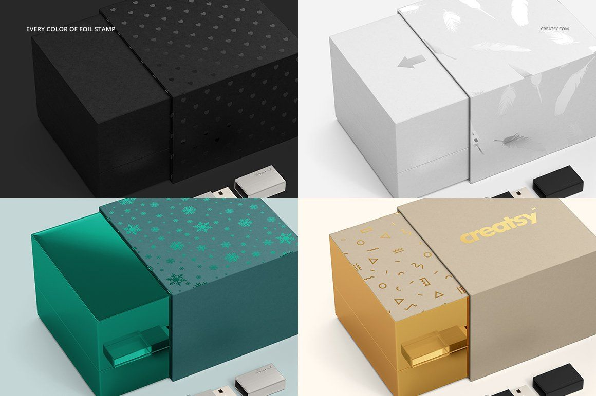 Download Acrylic Usb Drive Slide Box Mockup Slide Box Box Mockup Foil Stamping