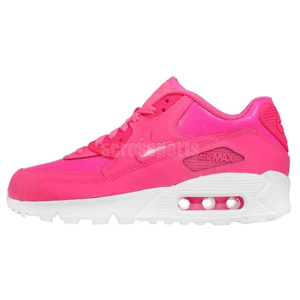 Nike Air Max 90 LTR GS Hyper Pink Pow Girls Womens Sneakers Shoes 724852-600