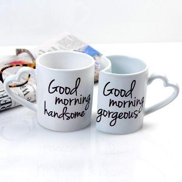 Good Morning Couples Coffee Mugs