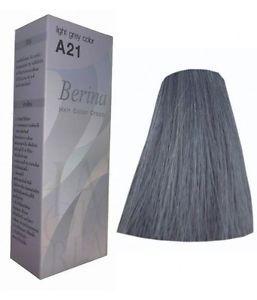 Details about 1X Berina A21 Light Grey Color Hair Cream Color ...