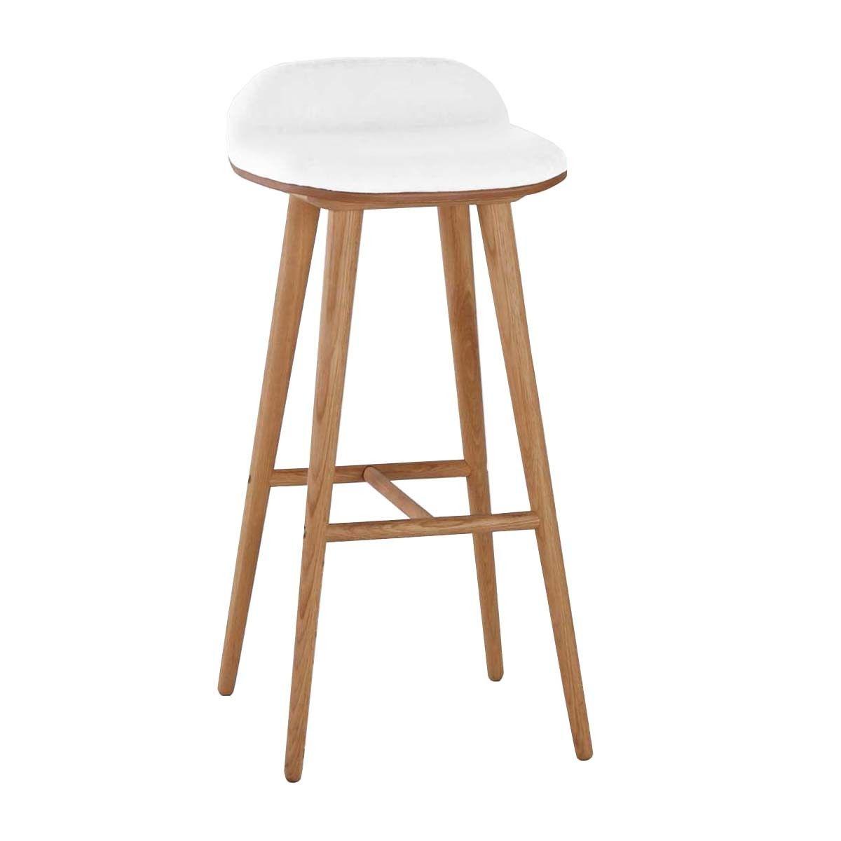 Capa Leather Bar Stool Oak White Bar Stools Kitchen Furniture Bar Stools Oak Bar Stools Wooden Bar Stools