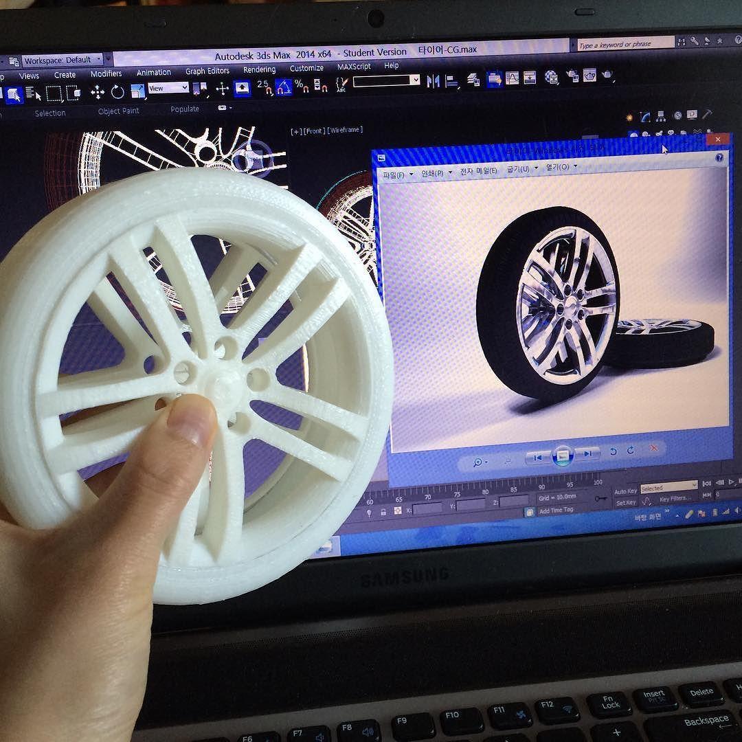 3오브젝트합체. 출력시간 총12시간- 꿀렁꿀렁:) 더빠를순없을까 #타이어 #3d프린팅 #3d모델링 #3dprinting #3dprint #3dmodeling by joococoro