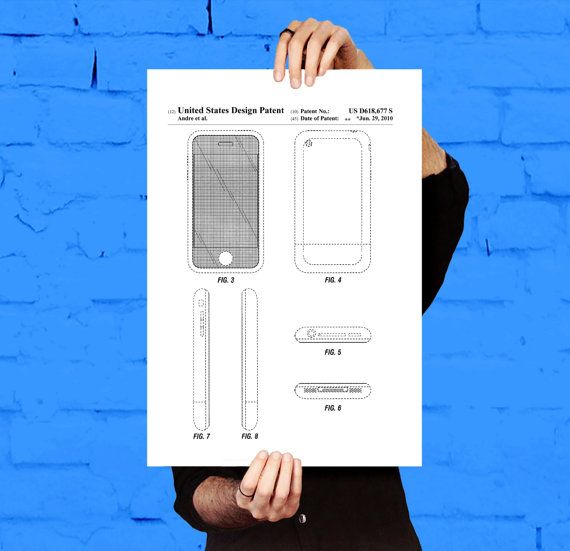 iPhone iOS Software Patent, iPhone iOS Software Poster, iPhone - new blueprint software ios