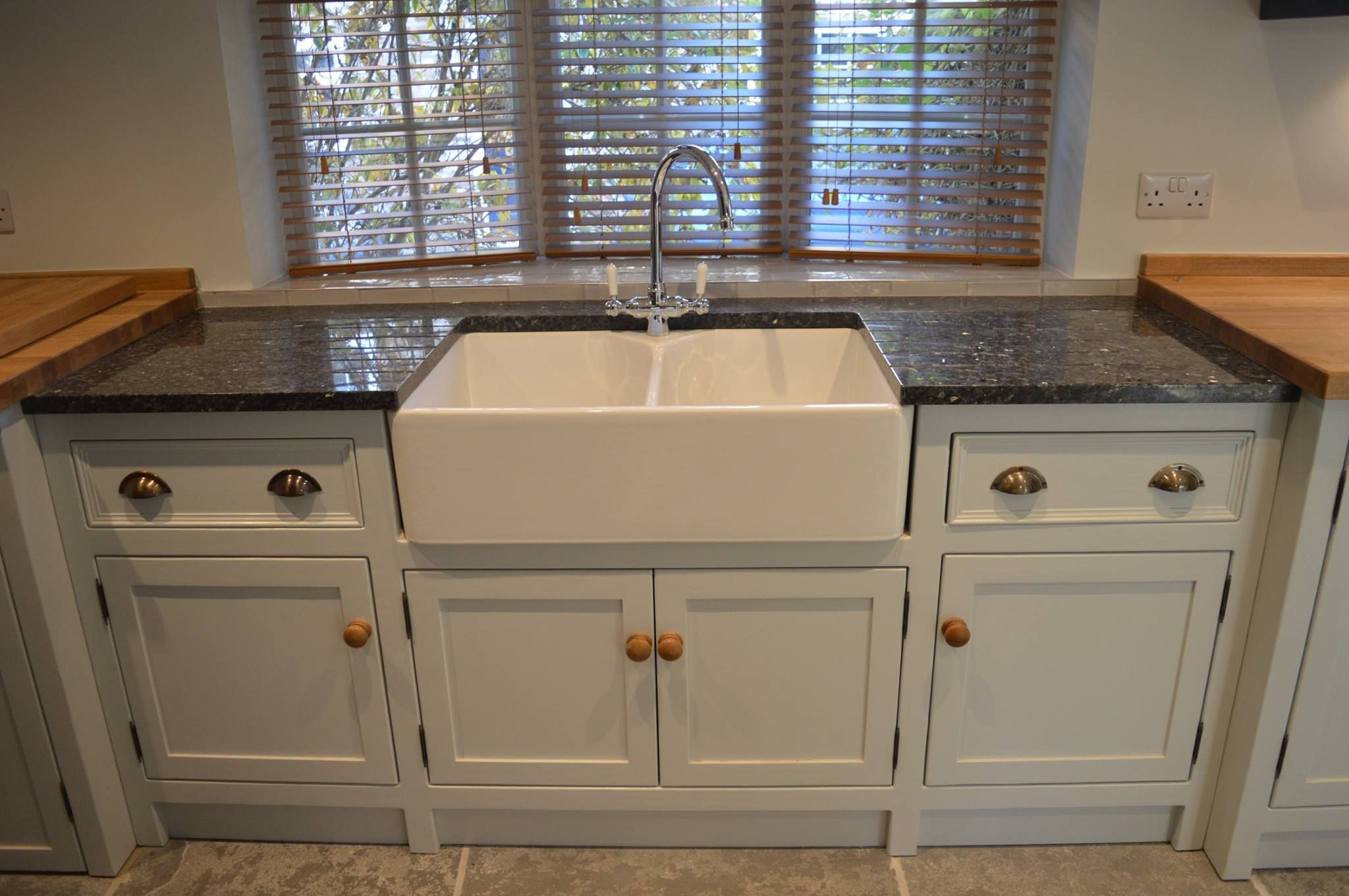 belfast sink units look great with slightly different height work