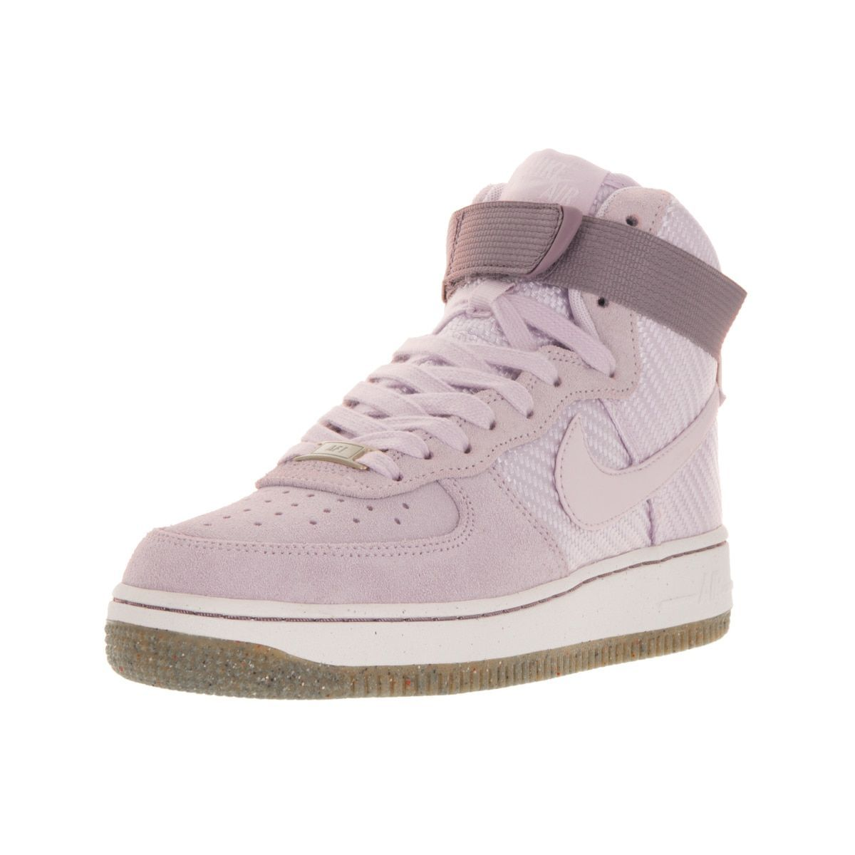 ... purchase cheap 621cb 57525 Nike Womens Air Force 1 Hi Prm Bleached  LilacBleached Lilac Basketball Shoes ... 95b42534ede0