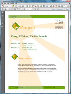 View Energy Efficiency Sample Proposal Work Pinterest Business